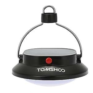 TOMSHOO LEDランタン 明るい キャンプ用 3つ調光モード 高輝度 携帯型 ポータブル折り畳み式 12LED ライト登山夜釣りハイキングアウトドア照明ライトソーラーバッテリ200ルーメン