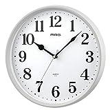 MAG(マグ) 掛け時計 アナログ ミドル 直径約28cm 連続秒針 ホワイト W-740WH-Z