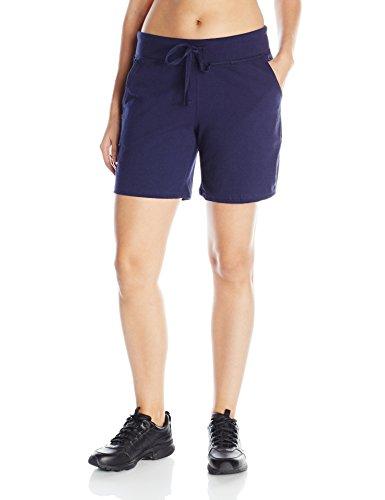 Hanes Women's Jersey Short, Navy, Medium