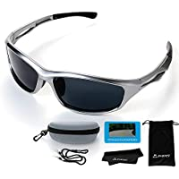 [avaneli] サングラス 偏光 メンズ 偏光レンズ スポーツサングラス【超軽量スポーツアウトドア&ファッション眼鏡】