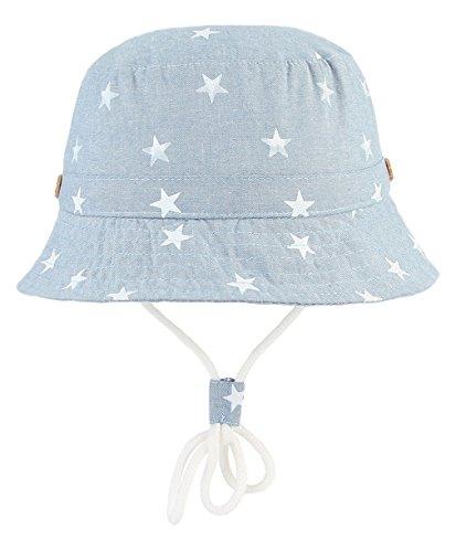 7e28b08f4a454 EOZY 新生児 ベビー 赤ちゃん キッズ ハット キャップ 帽子 子供 星柄 つば広 あご紐付 男の子