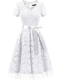 f24fb4777719b Amazon.co.jp  ホワイト - パーティードレス   ワンピース・ドレス  服 ...