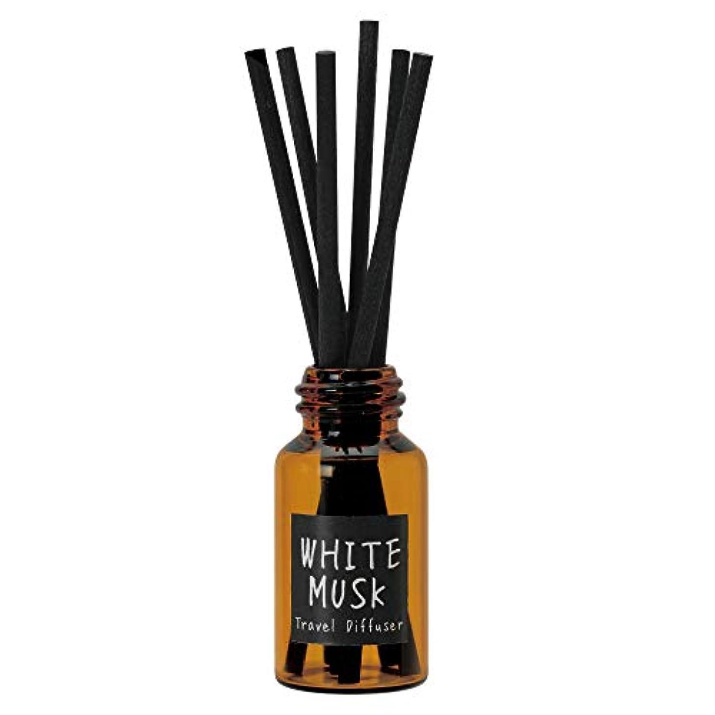 特許苦現在ノルコーポレーション リードディフューザー JohnsBlend トラベルディフューザー 携帯用 ホワイトムスクの香り OA-JON-16-1