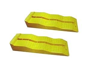 ワイドマルチ 5t 3段階タイヤスロープ ジャッキサポート 2個セット カースロープ