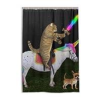 シャワーカーテン 防水 防カビ 加工 浴室 カーテン 風呂カーテン 猫 犬 うま おしゃれ かわいい 防水 間仕切り 遮像 目隠し用 リング付属 取り付け簡単 120×180cm 北欧 Mskyoo