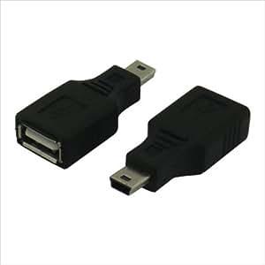 変換名人 USB A(メス) → miniUSB(オス) 変換アダプタ USBAB-M5AN