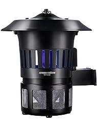 WJ 蚊ランプ 蚊キラー、吸入屋外防風防水防水壁掛け蚊ランプ蚊忌避剤、中庭、屋外などに適しています。サイズ:26x30cm 虫よけ
