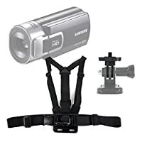 DURAGADGETプレミアム品質Samsungカメラアクションカメラ胸ハーネスマウント–完全に調整可能な胸ハーネスマウントクイックrelease-buckle付き新しいSamsung hmx-qf30bp / EDC