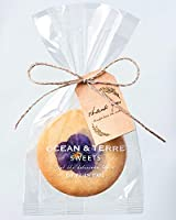 エディブルフラワーのクッキー1枚入りのプチギフト×1袋【結婚式 プレゼント バレンタインデー ホワイトデー お花のクッキー】