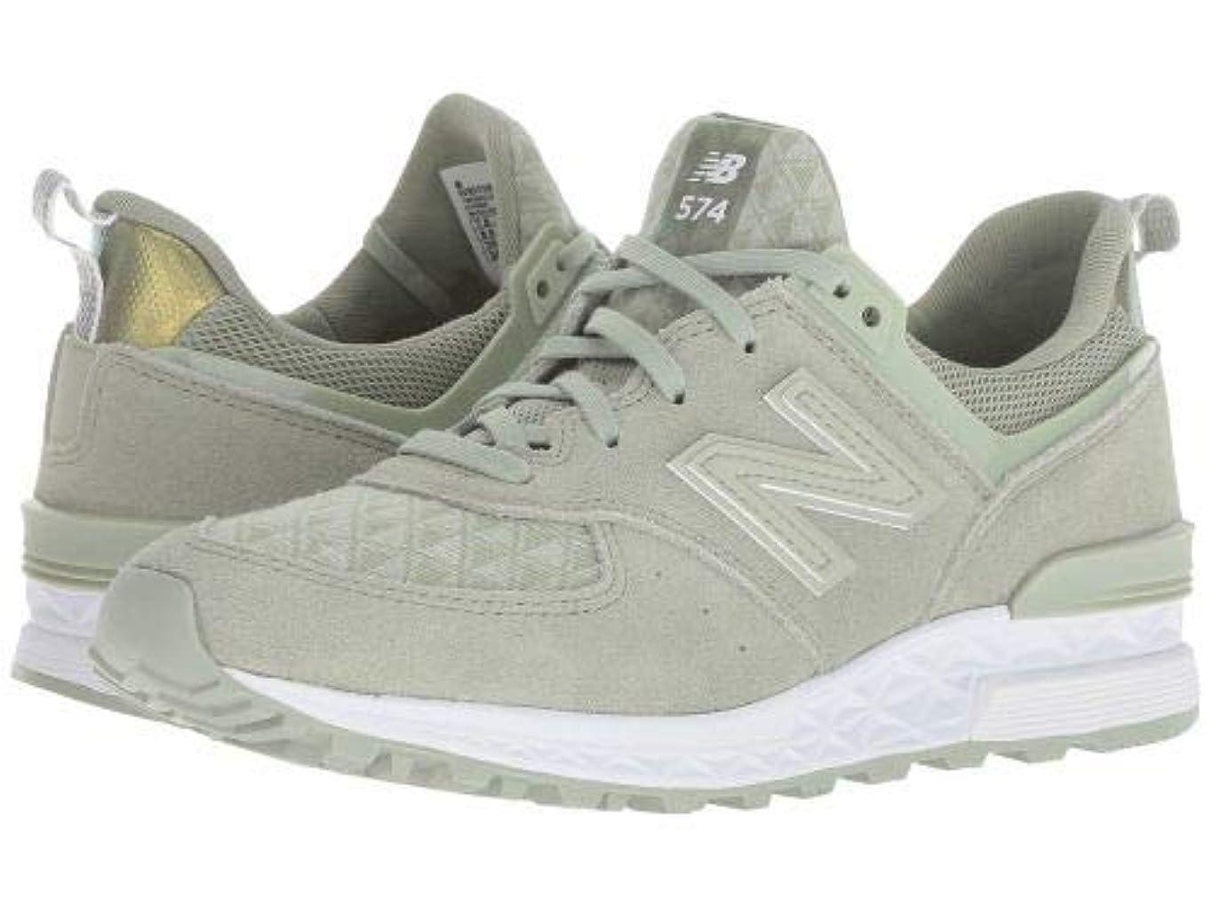 硫黄茎ジャンプするNew Balance Classics(ニューバランス クラシック) レディース 女性用 シューズ 靴 スニーカー 運動靴 WS574 - Silver Mint [並行輸入品]