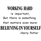 Believe in yourself Wall Art Sticker Harry Potter Quotes Removable Mural Wall Stickers Wall Decal for Office/Study Room Decoration