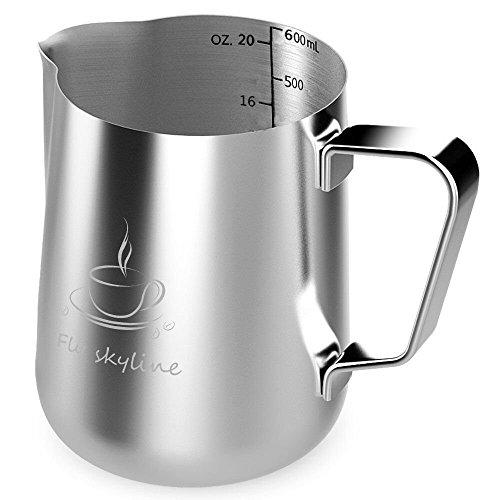 ステンレス製 ステンレススチール ミルク ピッチャー600ml (20oz)
