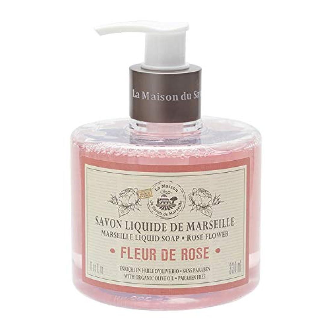 強風無駄だ浸漬ノルコーポレーション マルセイユ石鹸 リキッドソープ 330ml ローズの香り MLL-1-1