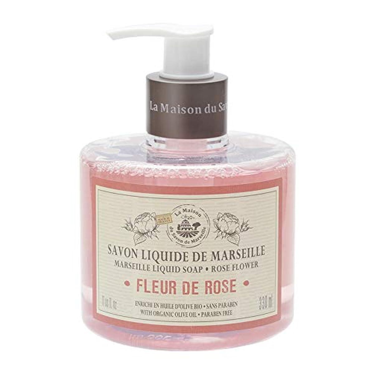 精神的に人里離れたシャンプーノルコーポレーション マルセイユ石鹸 リキッドソープ 330ml ローズの香り MLL-1-1