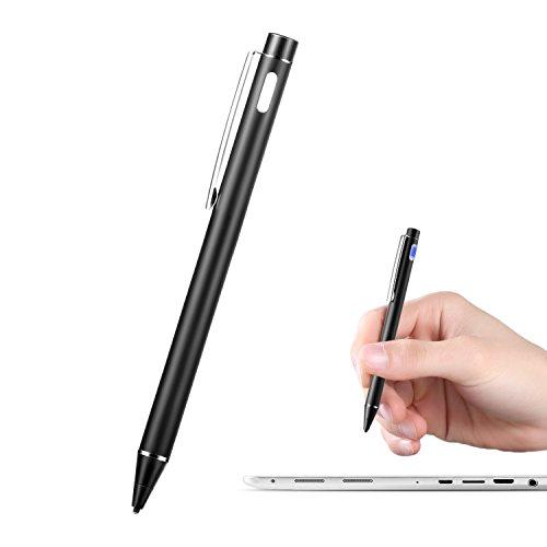 Oppsiue スタイラスペン タッチペン 極細 android/ios スマホ タブレット ipad に対応 USB充電 (ブラック)
