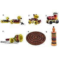 6ピース木製プッシュプル赤ちゃんおもちゃ&スキルToys Set :モデルows-gl002