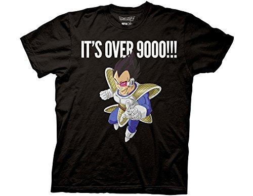 ドラゴンボールZ Tシャツ ベジータ Its Over 9000!!! 黒 Lサイズ [並行輸入品]