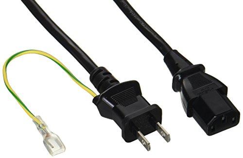 電源ケーブル 3ピンソケット(メス)⇔2ピンプラグ(オス)2m BSACC0620