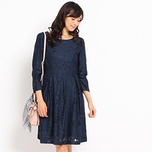 (クチュールブローチ) Couture Brooch フラワー総レースワンピース 50852152 36(S) ブルー系(098)