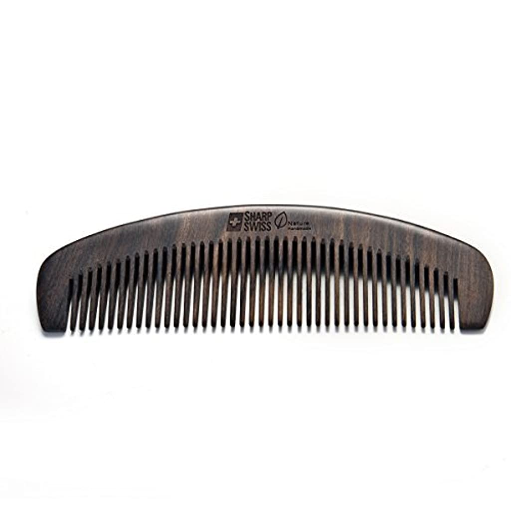 アブストラクト焼く汚れたSHARPSWISS No Static Black Nature Quality Wooden Hair Combs [並行輸入品]