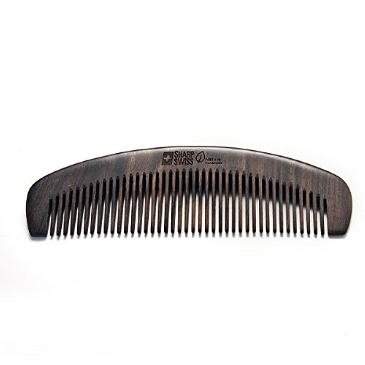 SHARPSWISS No Static Black Nature Quality Wooden Hair Combs [並行輸入品]