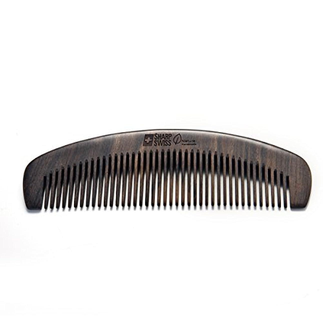 唇終了する回転させるSHARPSWISS No Static Black Nature Quality Wooden Hair Combs [並行輸入品]