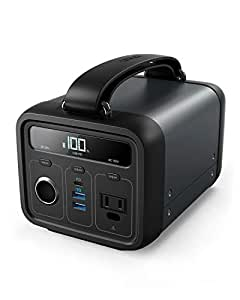 Anker PowerHouse 200 (213Wh / 57600mAh ポータブル電源) 【PSE認証済 / USB-A出力 & USB-C入出力 & AC出力 & DCシガーソケット出力対応 / Power Delivery対応 / PowerIQ搭載】 キャンプ、緊急・災害時バックアップ用電源