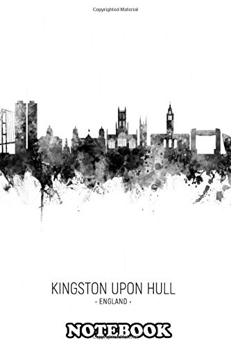 """Notebook: Watercolor Art Print Of The Skyline Of Kingston Upon Hu , Journal for Writing, College Ruled Size 6"""" x 9"""", 1"""