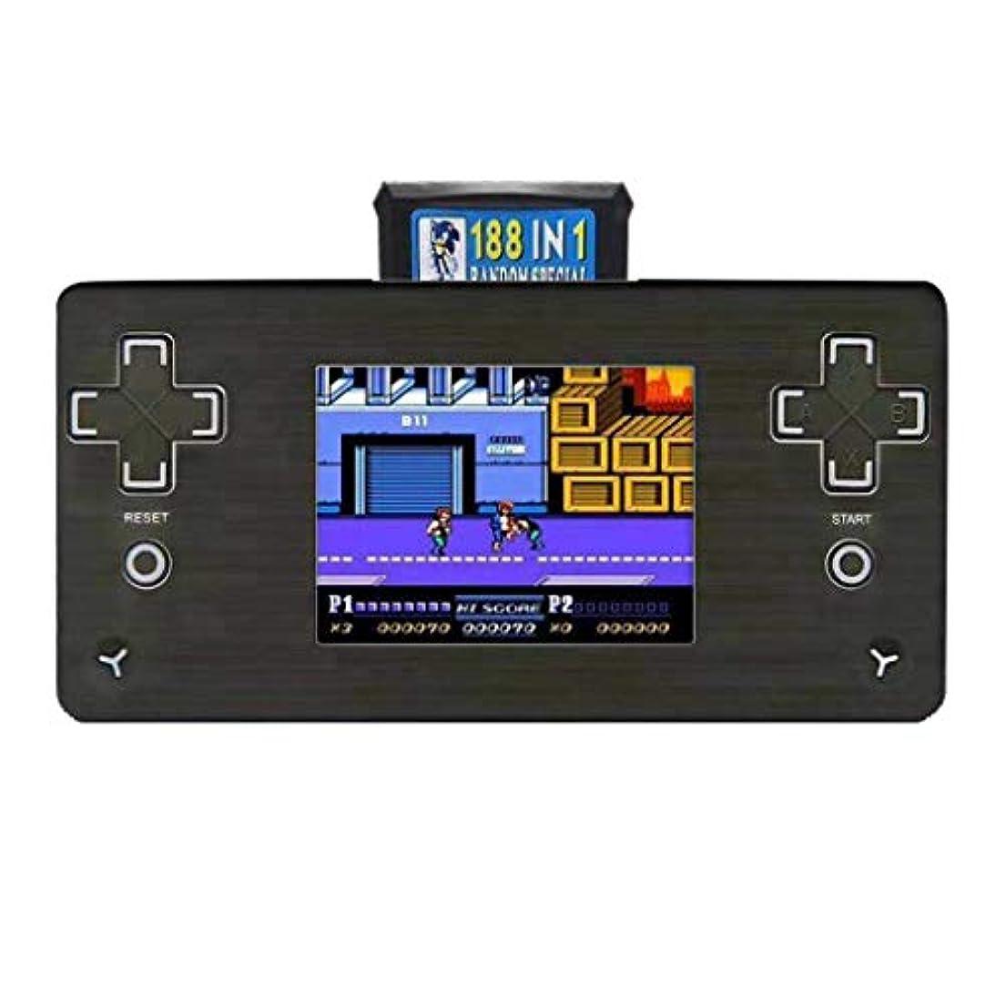 再開感謝している抹消携帯ゲーム機 アーケードゲーム 2.8インチ 家族 ハンドヘルドビデオゲーム 8ビットテレビ レトロ ポータブル コンソール プレーヤー 2ピースカード ゲームプレーヤーhuajuan