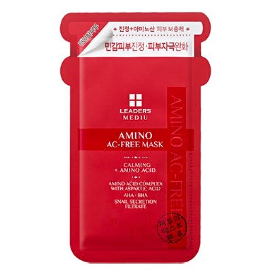 消毒剤タービン地震LEADERS リーダース メデュー アミノ AC-フリー マスク 25ml x 1枚 [並行輸入品]