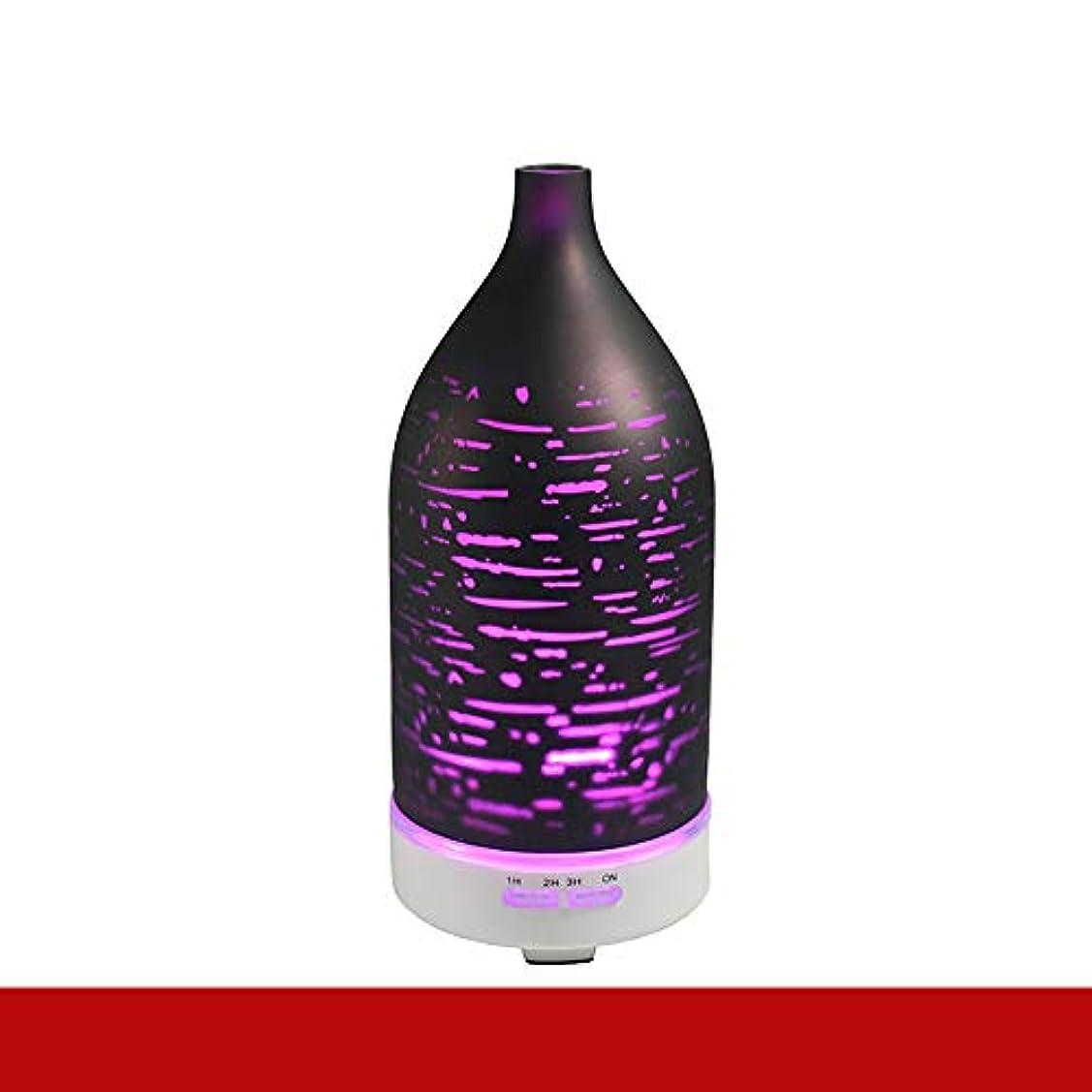 チラチラする保全魅力エッセンシャルオイルディフューザー電気超音波加湿器アロマセラピークールミスト加湿器空気清浄機7色 LED ライトホームベビールームベッドルームオフィス