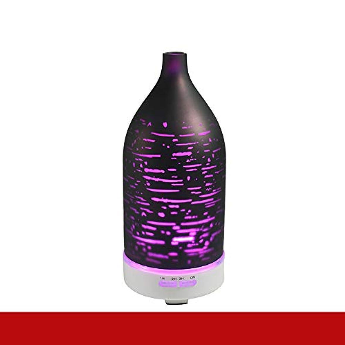 石化する宗教運動エッセンシャルオイルディフューザー電気超音波加湿器アロマセラピークールミスト加湿器空気清浄機7色 LED ライトホームベビールームベッドルームオフィス