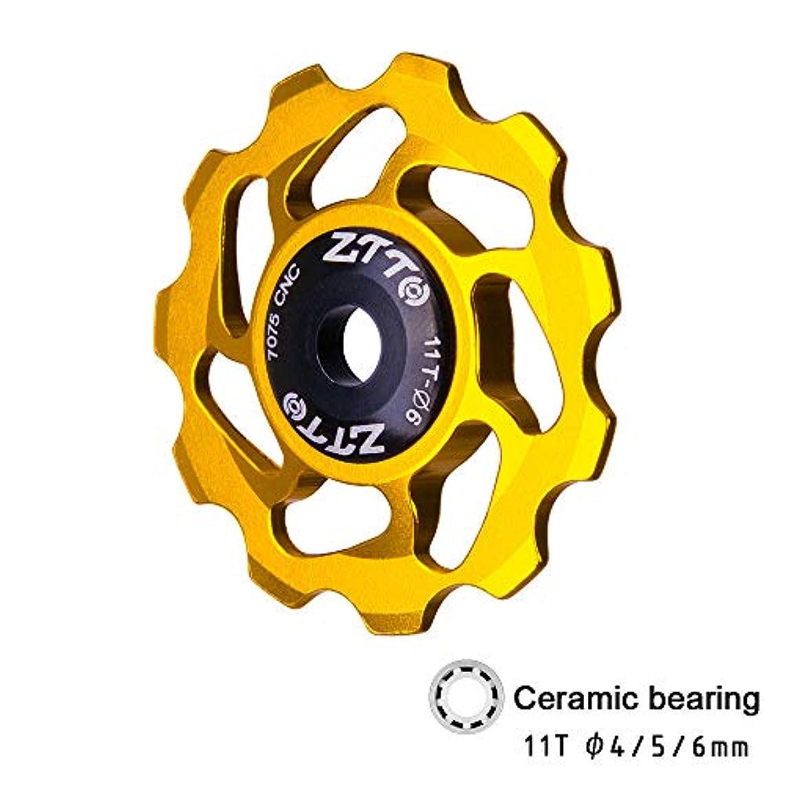 疲労クライストチャーチ予測するRakuby 11T MTB自転車リアディレイラー ジョッキーホイール セラミックベアリングプーリー ロード バイクガイドローラー 4mm 5mm 6mm