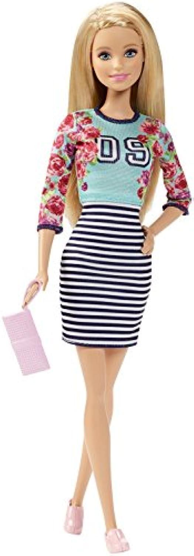Barbie バービー ファッショニスタ ドール フローラ トップ&ストライプスカート オリジナル Fashionistas Doll Floral Top and Striped Skirt - Original [並行輸入]