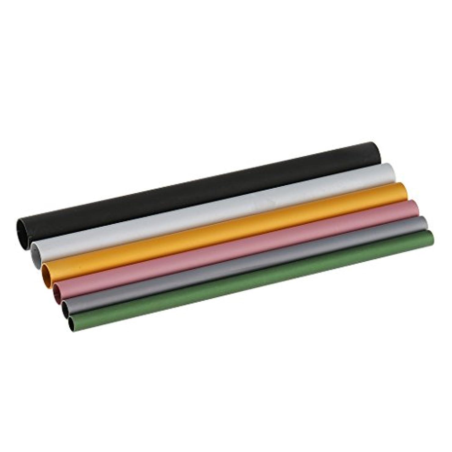 世代電圧競争Baosity 6本入り ミックスサイズ Cカーブ ネイルアート アルミ棒 爪用工具 アクリルヒント ヒント