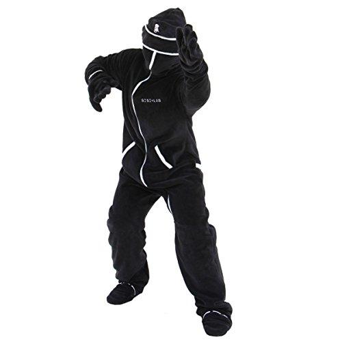 BIBILAB (ビビラボ) 冬のダメ着 人型寝袋 フリース キッズ EH-BLACK-K ニュータ...