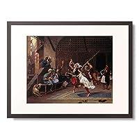 ジャン=レオン・ジェローム Gerome, Jean-Leon 「Islamic martial dance (La danse pyrrhique). 1885」 額装アート作品