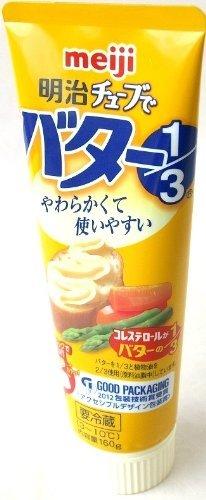 meiji 明治チューブでバター1/3 160g 3本×96セット 要冷蔵