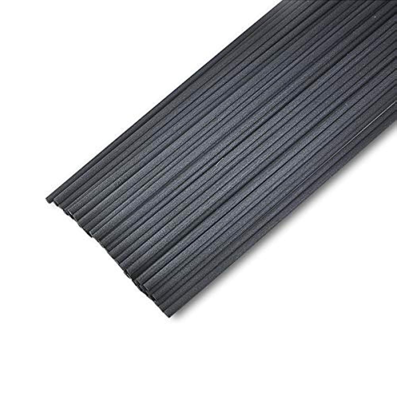 最適シットコム吐く50本入アロマファイバーディフューザー交換用スティック(20cm*3mm,黒)