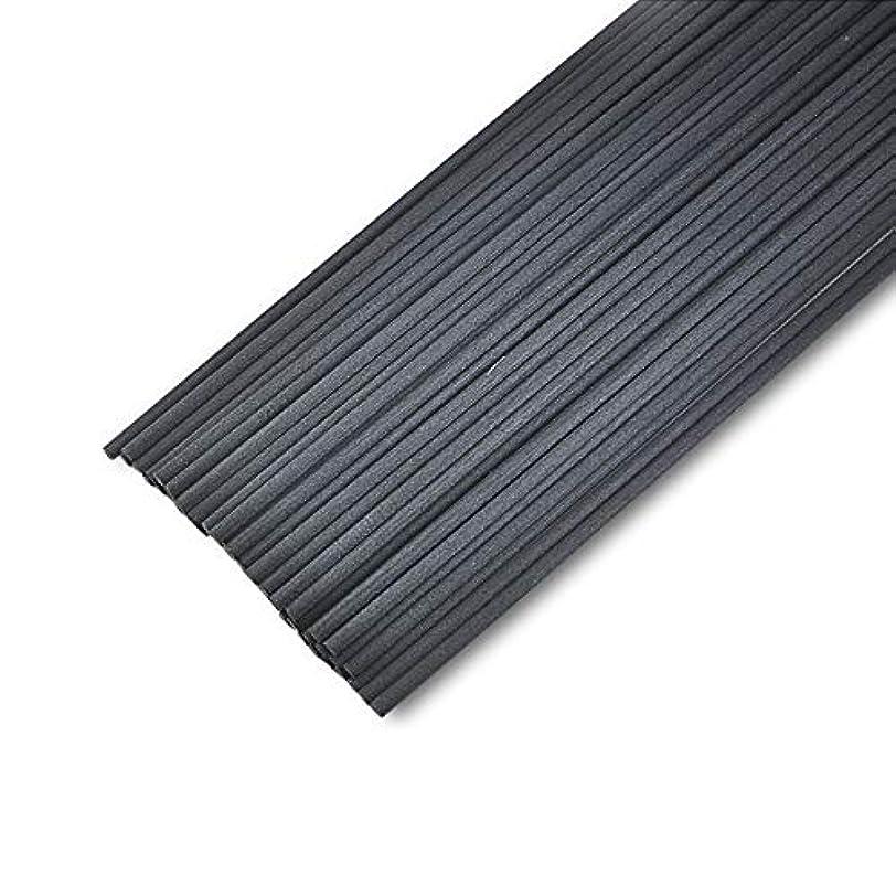 つなぐバスエキゾチック50本入アロマファイバーディフューザー交換用スティック(25cm*3mm,黒)