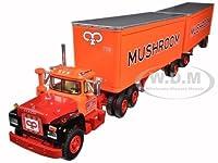 Mack R Model Truck Mushroom With Dual 28' Pup Trailers 1/64 by First Gear サイズ : 1/64 [並行輸入品]