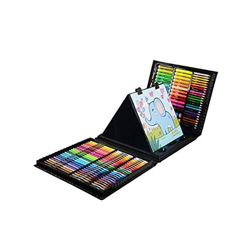 枕三十一貫したJiansheng001 塗装ブラシ、24色139子供用塗装セット、均一色プラスチック包装塗装セット(黒/ピンク、37 * 31 * 6 cm) 安定した色 (Color : Black, Size : 37*31*6cm)