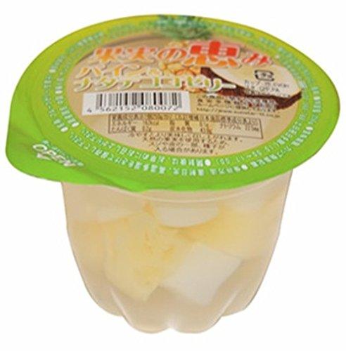 セイウ 果実の恵み パイン&ナタデココゼリー 250g×12個