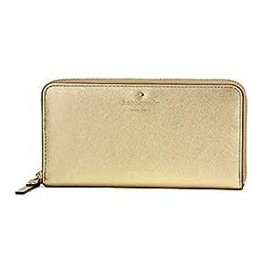 ケイトスペード(kate spade) 長財布(ラウンドファスナー) PWRU4065 gold ゴールド 金[並行輸入品]