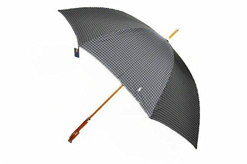 (ラルフローレン)Ralph Lauren メンズ ポロ ×チェック デザイン 雨傘(長傘) 65cm / 黒(ブラック)