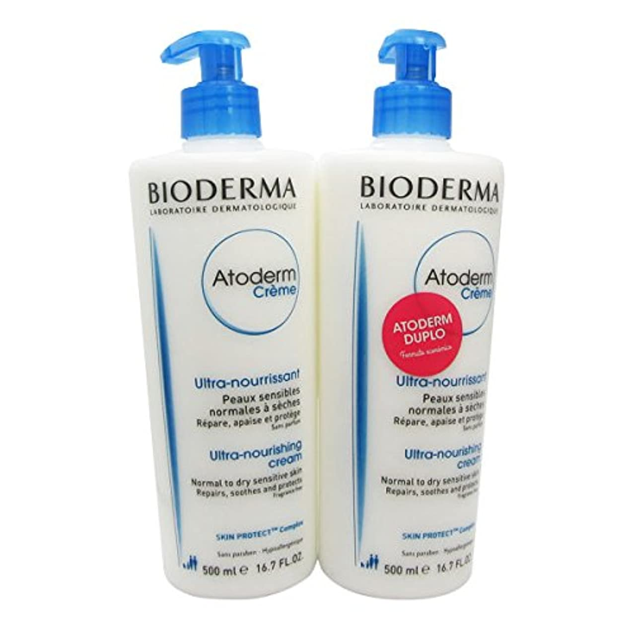 米国ホース首Bioderma Atoderm Nourishing Cream 2x500ml [並行輸入品]