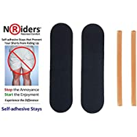 NoRiders 5-inch Self-adhesive Stays with Patches [6-Pack]