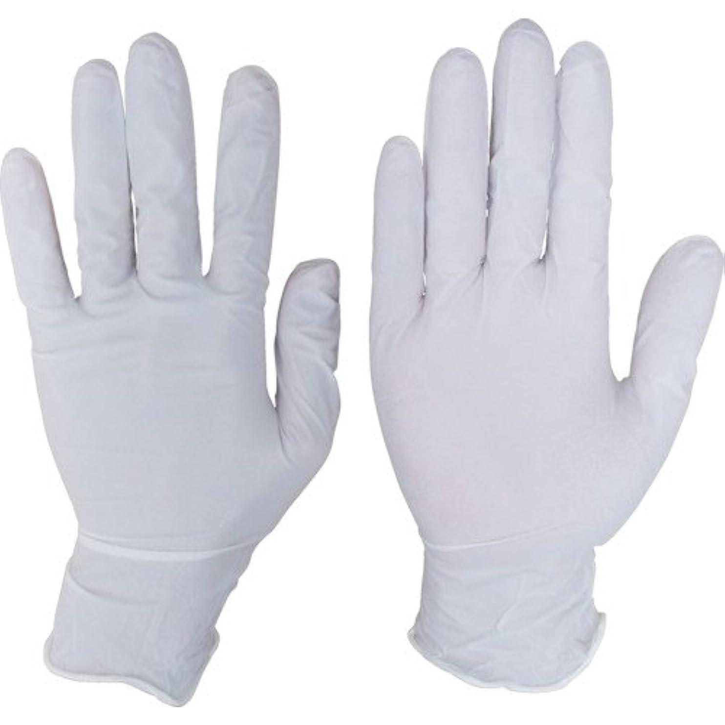 弱まる冷淡な広くシンガーニトリルディスポ手袋 No.110 ホワイト パウダーフリー(100枚) SS