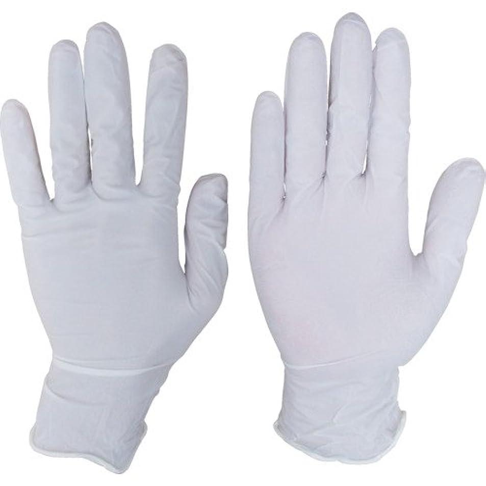 カロリー抽象熱望するシンガーニトリルディスポ手袋 No.110 ホワイト パウダーフリー(100枚) L