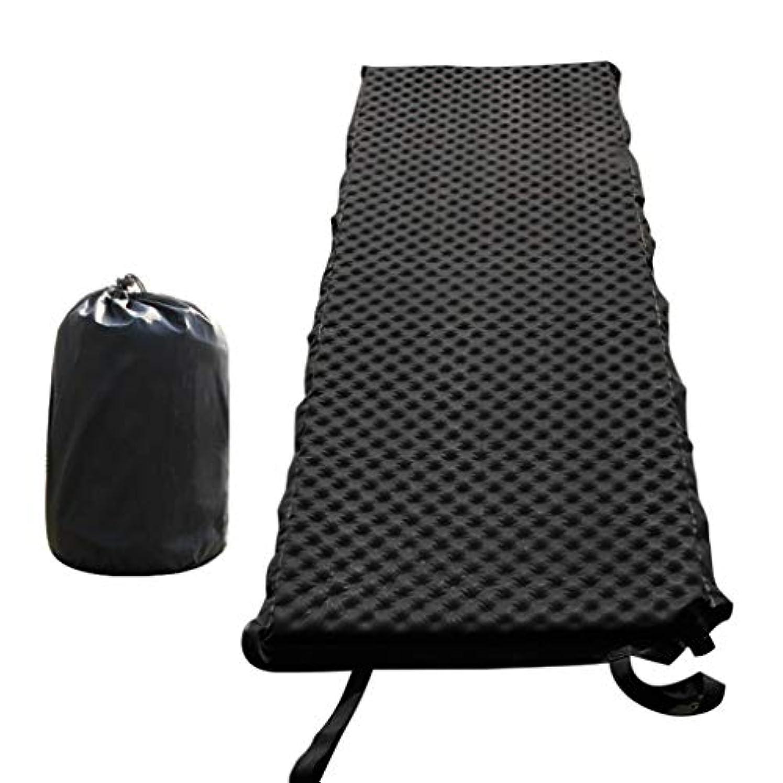 あそこシード卒業記念アルバム自己膨脹式寝台のキャンプのベッド、キャンプのための爆発の枕が付いているキャンプパッドのマットのマットレスのバックパッキングのテントのハイキング黒 (色 : ブラック, サイズ さいず : L l)